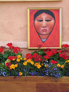 calm aspect with flowers, santa fe, new mexico, august 8, 2003.