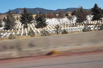 santa fe cemetery, from 285 at speed.