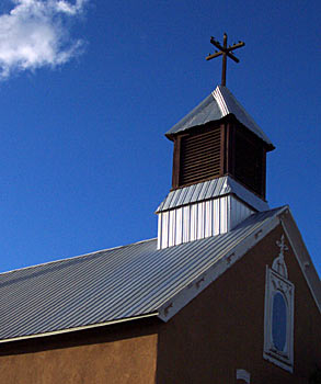 church in galisteo new mexico, sept 29, 2002.