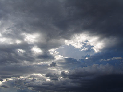 clouds, santa fe, new mexico, august 3, 2003.