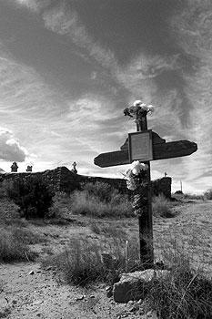 commemorative cross, galisteo new mexico.