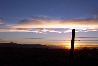 fenceline sunset, santa fe.