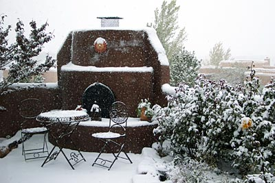 first snowfall of the season, santa fe.
