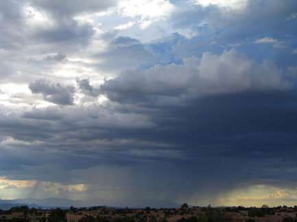 storm over the jemez, santa fe, new mexico, august 3, 2003.