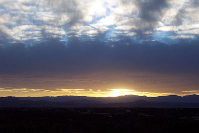 sunset over the jemez mountains.
