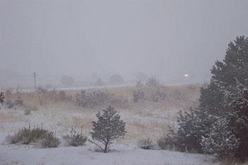snowstorm, january 30, 2002, evening.