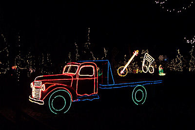 lit truck, river of lights at the albuquerque botanical gardens, december 18.