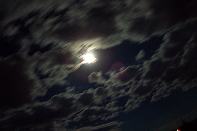 moon, clouds ... and coyotes howling.