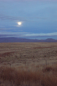 moonrise from 14, heading towards madrid, n.m.