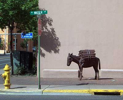 bronze mule.