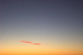 cloud at sunset, santa fe.