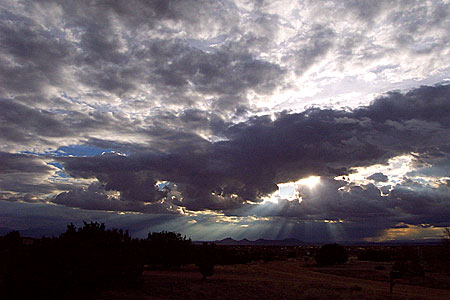 good cloudage, santa fe, new mexico, march 20, 2003.