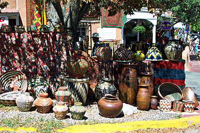 pots on canyon road, specials for indian market weekend.