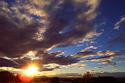 pre-sunset, santa fe, new mexico, february 18, 2003.