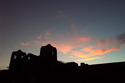 iaia facade and sunset.