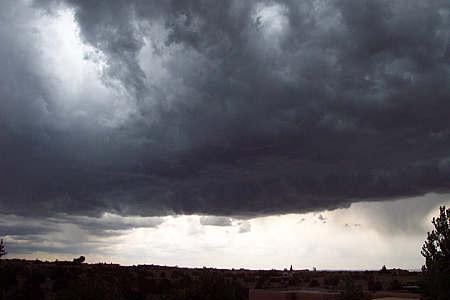 rainstorm, santa fe, new mexico, june 13, 2003.