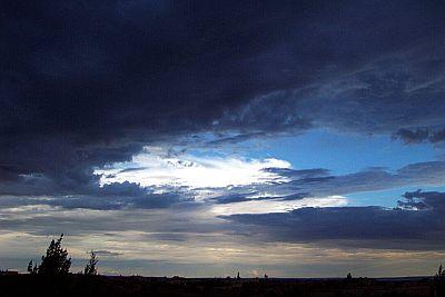 sunlit storm top