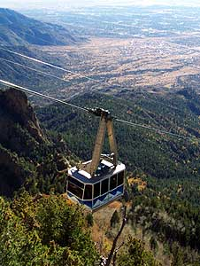the sandia tramway, about to ... well .. dock?