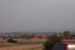 smokey morning, june 4, northern new mexico.