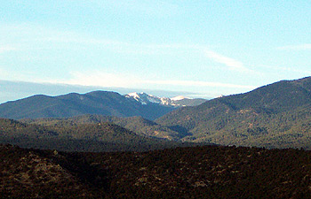 snow on the sangres, from the south.