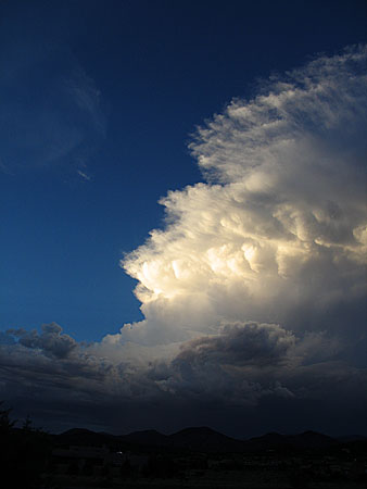 storm at sunset, santa fe, new mexico, august 8, 2003.