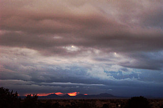 storm clouds, santa fe.