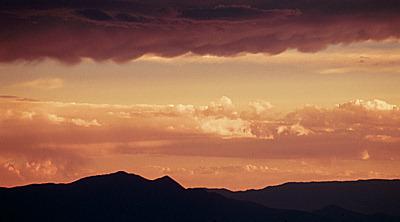 early summer sunset, santa fe.
