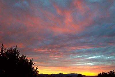 sunset, santa fe, december 5, 2003.