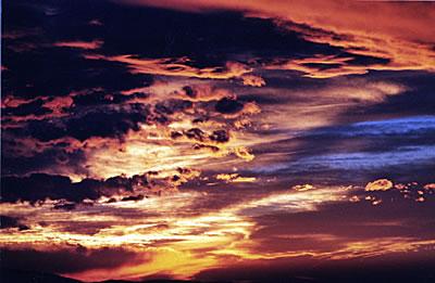 sunset closeup, santa fe.