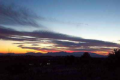 sunset, santa fe, new mexico, january 10, 2003.