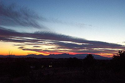 sunset, santa fe, new mexico, january 10, 2003.