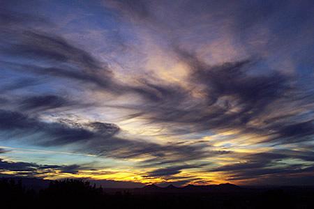 sunset, santa fe, new mexico, january 23, 2003.
