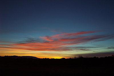 sunset, santa fe, new mexico, february 1, 2003.