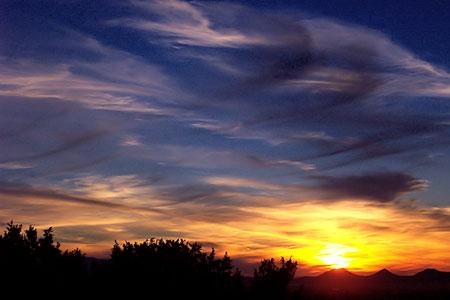 sunset, santa fe, new mexico, february 4, 2003.