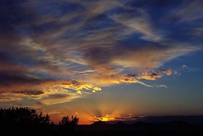 sunset, santa fe, new mexico, february 5, 2003.