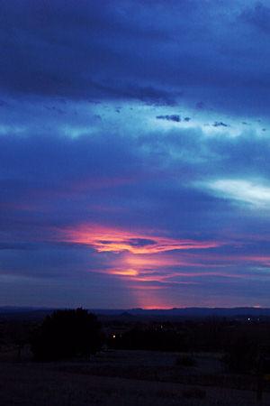 sunset, santa fe, new mexico, march 26, 2003.