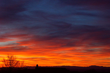 sunset, santa fe, new mexico, april 9, 2003.