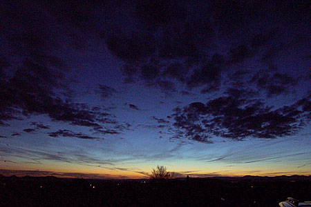 sunset, santa fe, new mexico, april 20, 2003.
