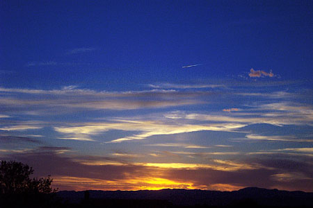 sunset, santa fe, new mexico, may 17, 2003.