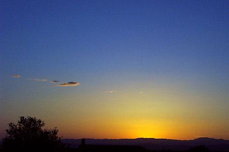 sunset, santa fe, new mexico, may 21, 2003.