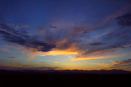 sunset, santa fe, new mexico, may 22, 2003.