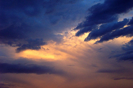 sunset clouds, santa fe, new mexico, may 27, 2003.