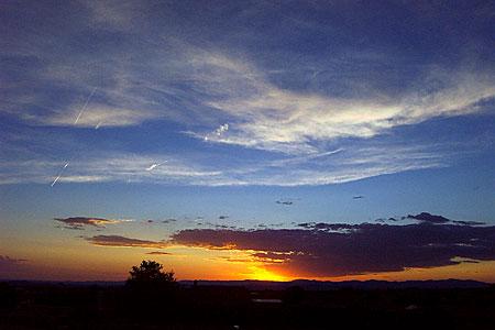 sunset, santa fe, new mexico, june 1, 2003.