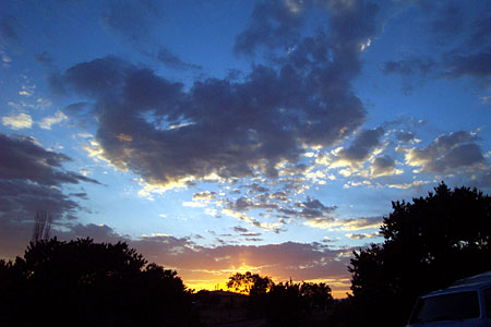 sunset, santa fe, new mexico, june 14, 2003.