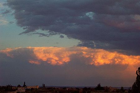 sunset, santa fe, new mexico, july 11, 2003.