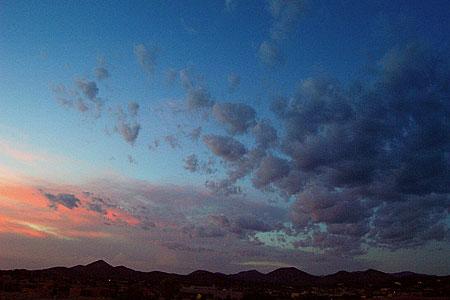 sunset, santa fe, new mexico, july 18, 2003.
