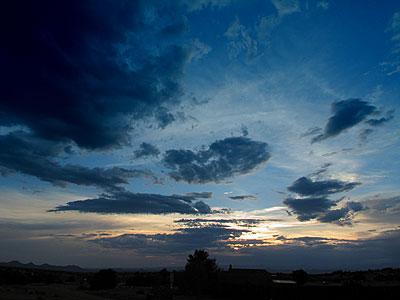 sunset, santa fe, new mexico, july 31, 2003.