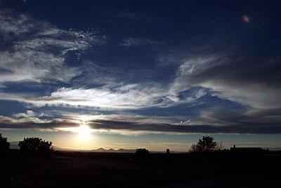 sunset, santa fe.