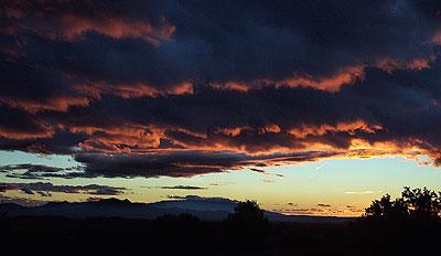 sunset, santa fe, november 10.