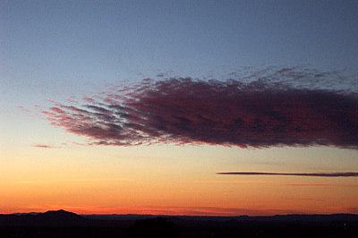 sunset, santa fe, december 26, 2002.